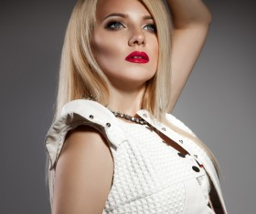 Fashion makeup beautiful woman posing Stock Photo 13