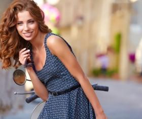 Fashionable beautiful Italian woman Stock Photo 02
