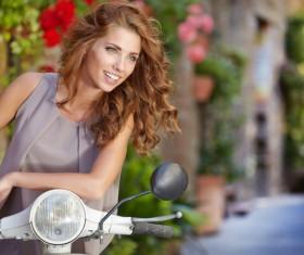 Fashionable beautiful Italian woman Stock Photo 03