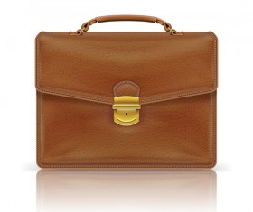 Fashionj leather briefcase vectors illustration 01