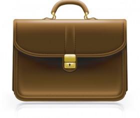 Fashionj leather briefcase vectors illustration 02