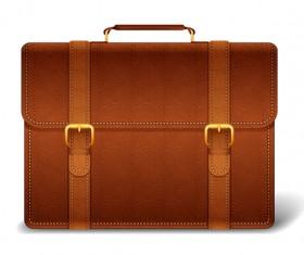 Fashionj leather briefcase vectors illustration 03