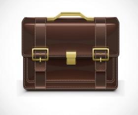Fashionj leather briefcase vectors illustration 04