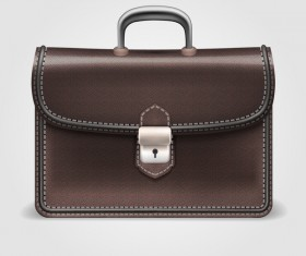 Fashionj leather briefcase vectors illustration 05