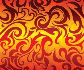 Fire abstract pattern vector material