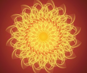 Fire floral decor vector