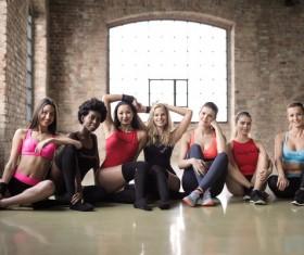 Fitness Girls Group photo Stock Photo
