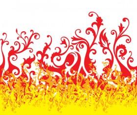 Floral fire background illustration vector