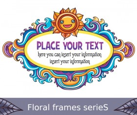 Floral frame for you text vector