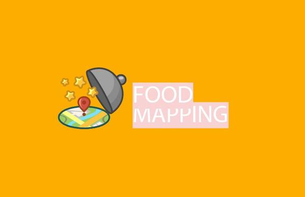 Food mapping logo vector