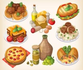 Food vintage illustration vector 01