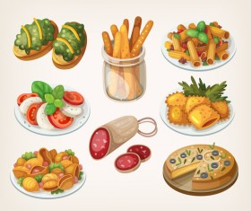 Food vintage illustration vector 02