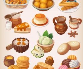 Food vintage illustration vector 03
