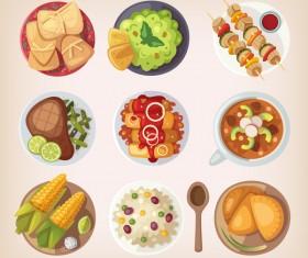 Food vintage illustration vector 04