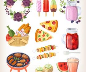 Food vintage illustration vector 05