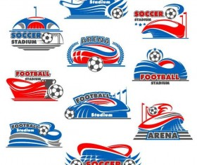 Football logos design vectors