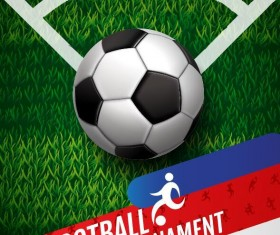 Football tournament poster vector