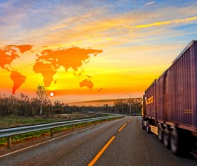 Freight truck Stock Photo 07