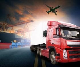 Freight truck Stock Photo 09