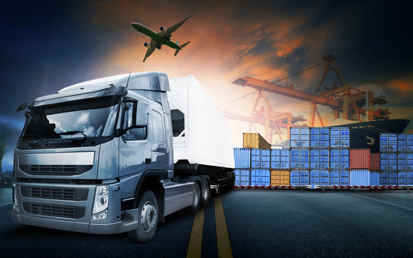 Freight truck Stock Photo 10