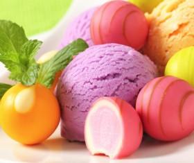 Fruit with ice cream Stock Photo 07