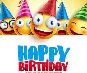Funny birthday background vector