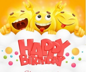 Funny birthday card vectors