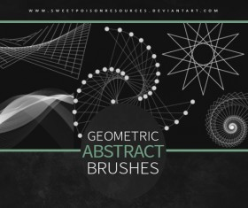 Geometric Abstract Photoshop Brushes
