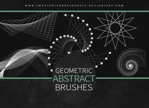 Geometric Abstract Photoshop Brushes free download