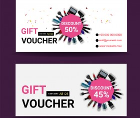 Gift coupon creative design vector 01