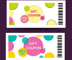 Gift coupon creative design vector 02