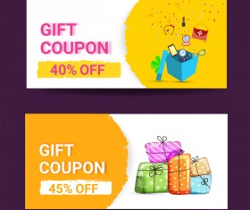 Gift coupon creative design vector 03
