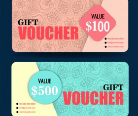 Gift coupon creative design vector 04