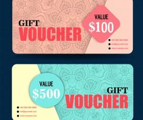 Gift coupon creative design vector 04