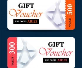 Gift coupon creative design vector 05