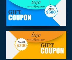 Gift coupon creative design vector 07