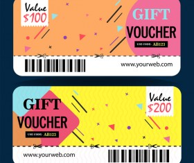 Gift coupon creative design vector 08