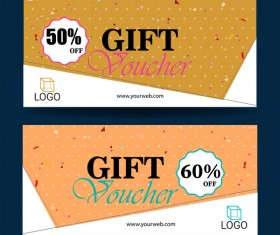 Gift coupon creative design vector 09