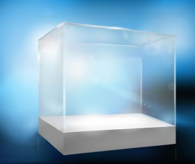 Glass with blue background vector