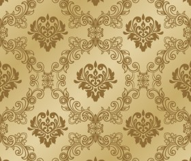 Gold seamless wallpaper pattern vector
