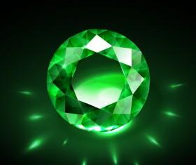 Green diamond vector