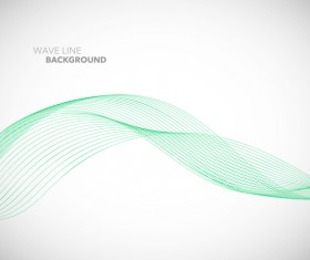 Green wavy line background illustration vector