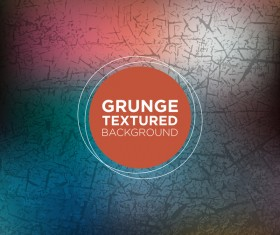 Grunge textured background vector 06