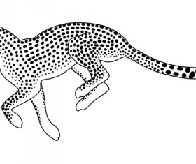Hand drawn leopard vector illustration 05