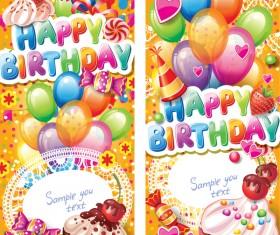Happy birthday banner card vector