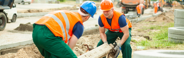 Hard work road construction workers Stock Photo 04