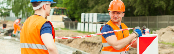 Hard work road construction workers Stock Photo 07