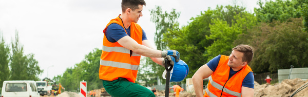 Hard work road construction workers Stock Photo 09