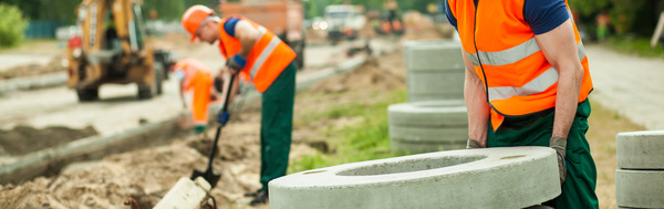 Hard work road construction workers Stock Photo 10
