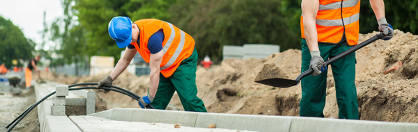 Hard work road construction workers Stock Photo 11